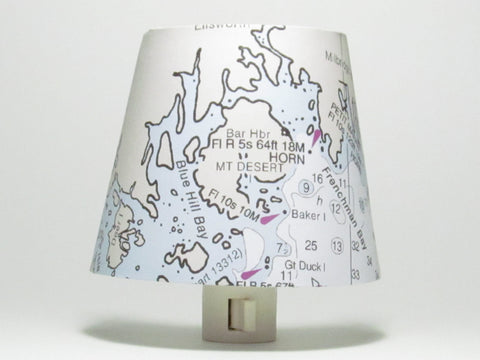 Down East, Maine Nautical Chart Night Light