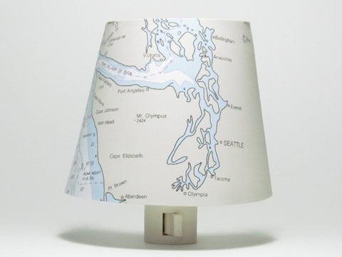 Seattle Nautical Chart Night Light