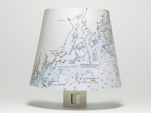 Penobscot Bay Maine Nautical Chart Night Light