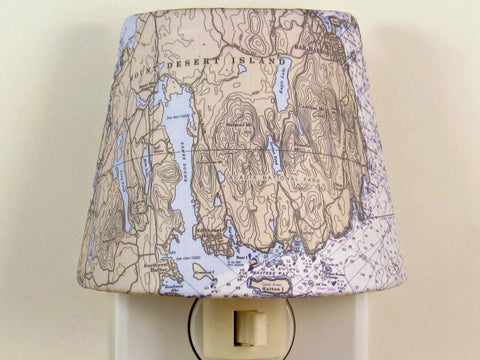 Bar Harbor Chart Night Light - 1990 Reproduced Chart