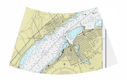 Ogdensburg, New York  Nautical Chart Night Light with city details