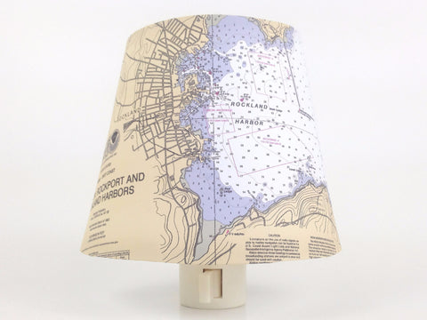 Rockland Harbor Maine Chart Night Light