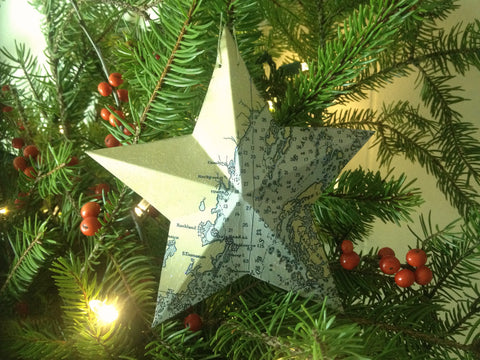 Star Chart Ornaments - 1944 Reproduced Chart of Maine