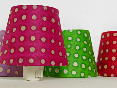 Pink Polka Dot Night Light