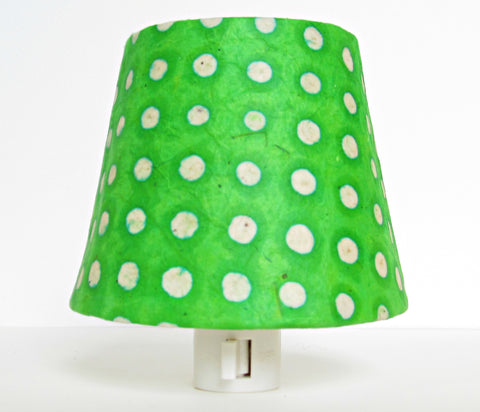 Green Polka Dot Night Light