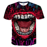 tee shirt joker sourire demoniac