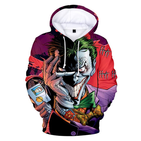 sweat à capuche joker demon