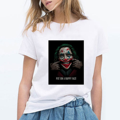 tee shirt joker sourire force