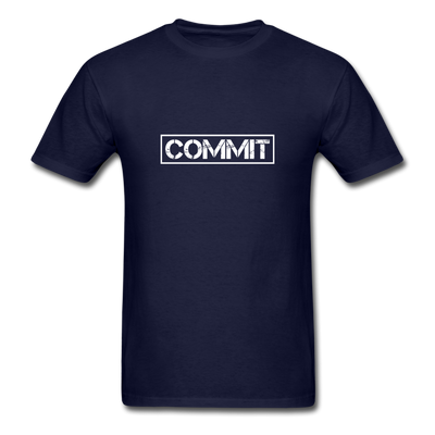 "Men's ""Commit"" T-Shirt - navy"