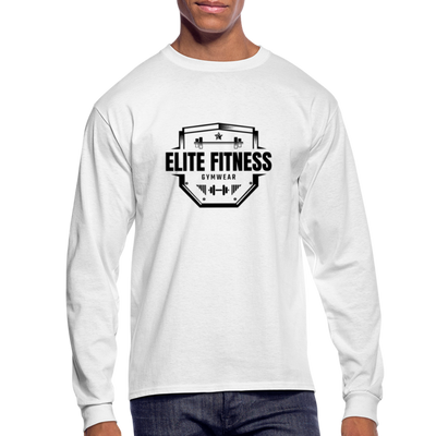 "Men's ""Elite Fitness Gymwear"" Long Sleeve T-Shirt - white"