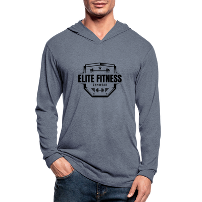 "Men's ""Elite Fitness Gymwear"" Hoodie Shirt - heather blue"