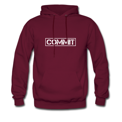 Men's Commit Hoodie - burgundy