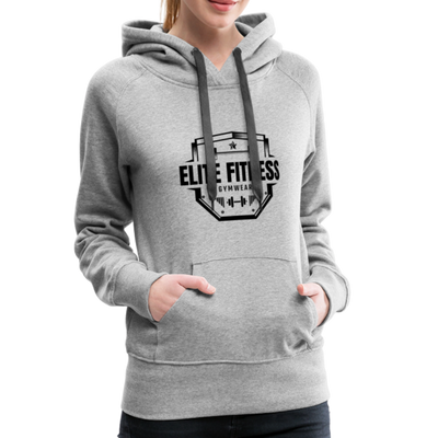 "Women's ""Elite Fitness Gymwear"" Hoodie - heather gray"