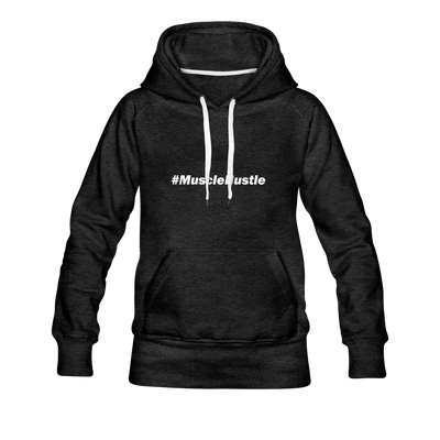 "Women's ""#MuscleHustle"" Hoodie - charcoal gray"