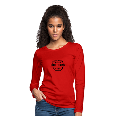 Women's Elite Fitness Long Sleeve T-Shirt - red