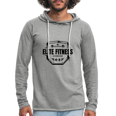 "Men's ""Elite Fitness Gymwear"" Lightweight Workout Hoodie - heather gray"