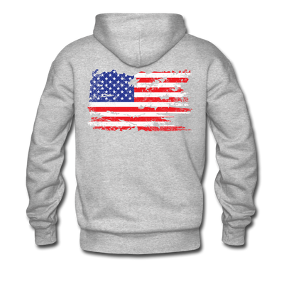 Men's Vintage Flag Hoodie - heather gray