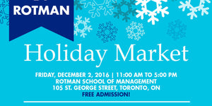 Rotman Holiday Market date & location promo card
