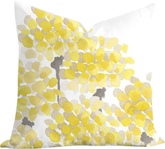 Yellow Petals pillow by Senay Studio