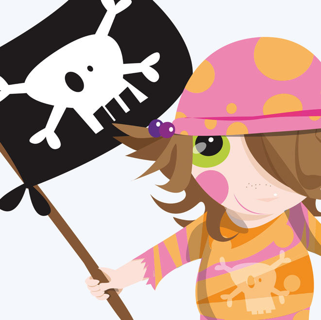 Pirate Girl - Cushion Cover