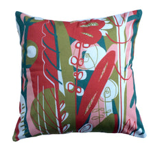 Load image into Gallery viewer, Rose Quartz Amaryllis decorative throw pillow front