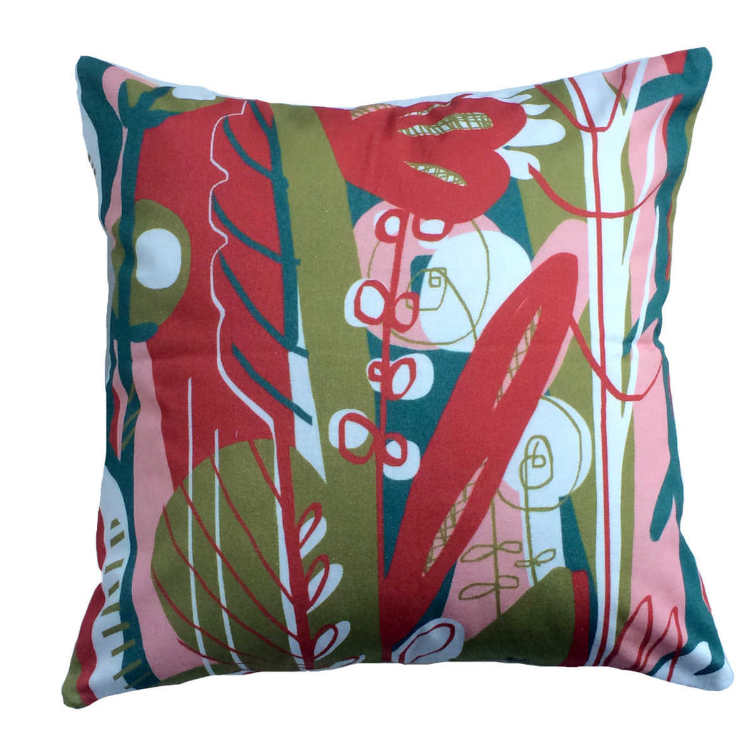 Rose Quartz Amaryllis decorative throw pillow front