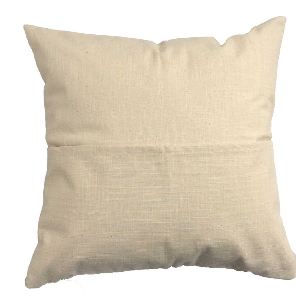 Amaryllis throw pillow brown linen back with pocket