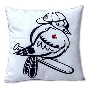Blue Jay Pocket Pillow - Special Baseball Edition with Buffalo Plaid Back
