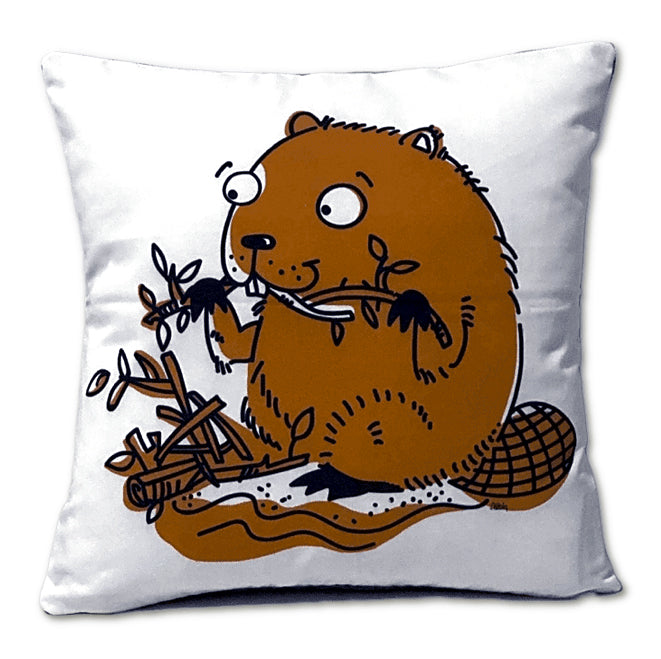 Beaver - Throw Pillow - Back Pocket
