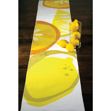 Load image into Gallery viewer, Lemon citrus table runner spread across table