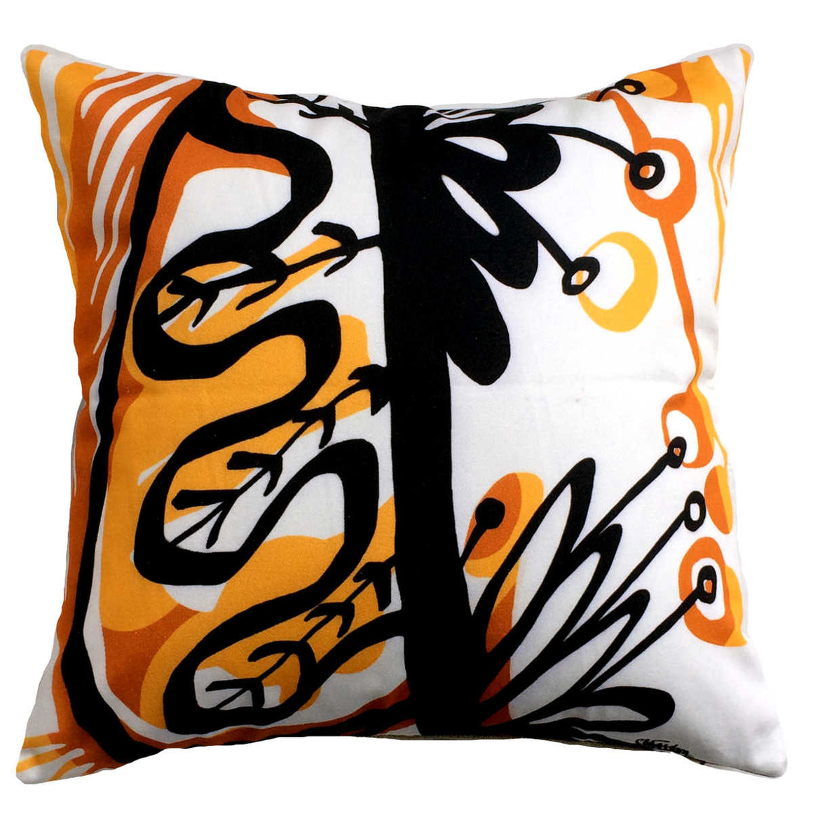 Feuillage (Foliage) decorative pillow cotton  twill front