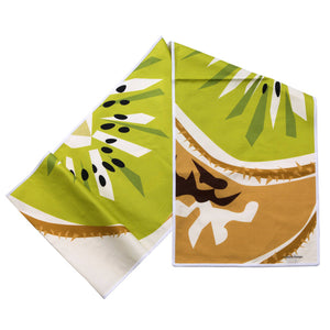 "Kiwi Table Runner Linen Cotton 14""x72"" folded"