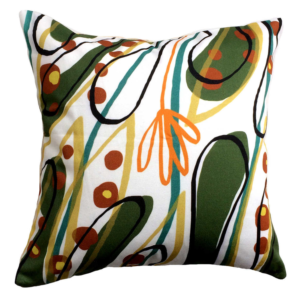 Lily decorative throw pillow front