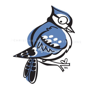 Blue Jay Pocket Pillow