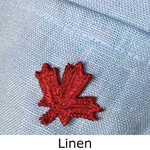 Linen back detail showing material weave