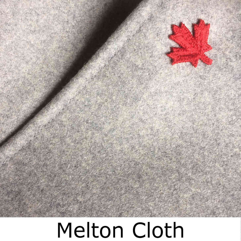 Melton Cloth detail showing fabric quality