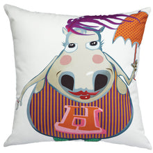 Load image into Gallery viewer, Party Hippo - Cushion Cover