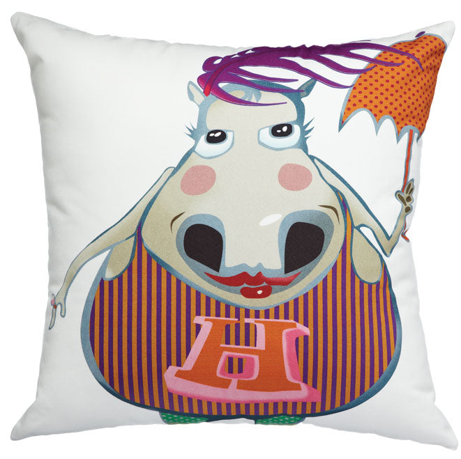 Party Hippo - Cushion Cover