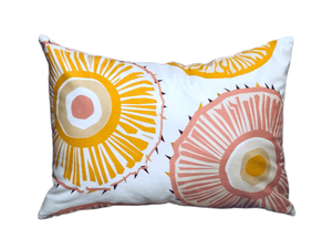 Pineapple and polkadot rectangle pillow