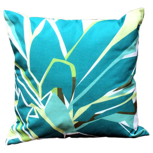 Pineapple Decorative Pillow Back featuring pineapple leaves