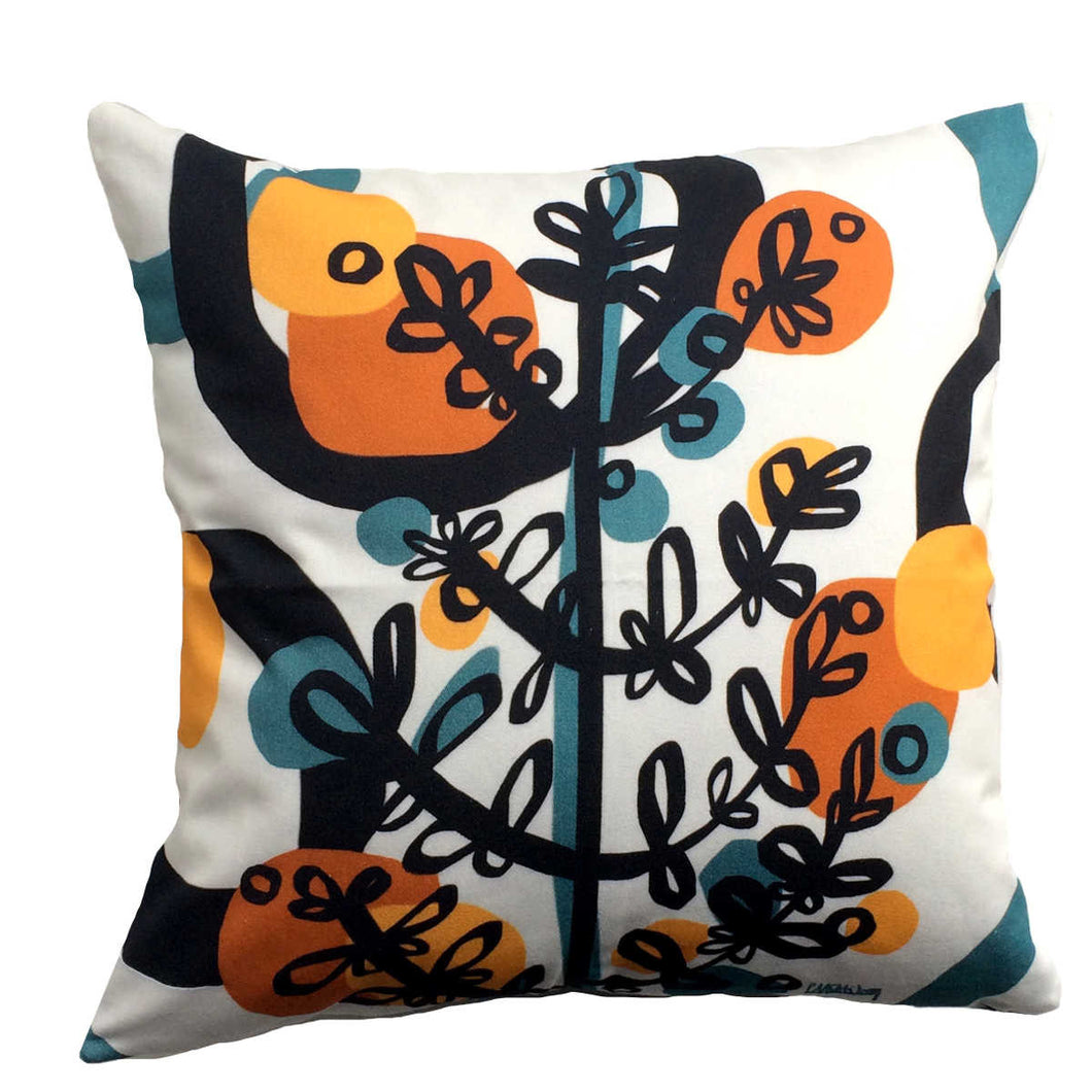 Branchette (Twig) decorative pillow cotton twill front with twig design