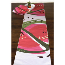 Load image into Gallery viewer, Watermelon table runner spread across table top