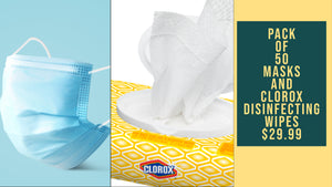 Clorox Disinfecting Wipes and Masks Bundle