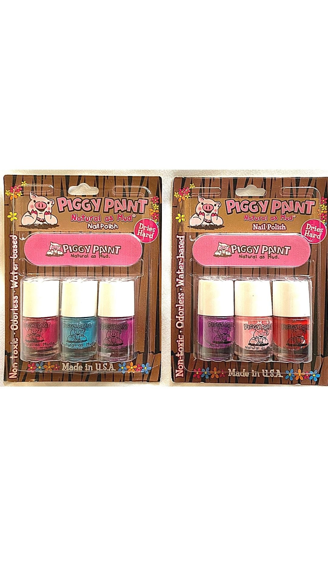 3 Pack Blister with Nail File (3 scented mini 3.5ml nail polish set)