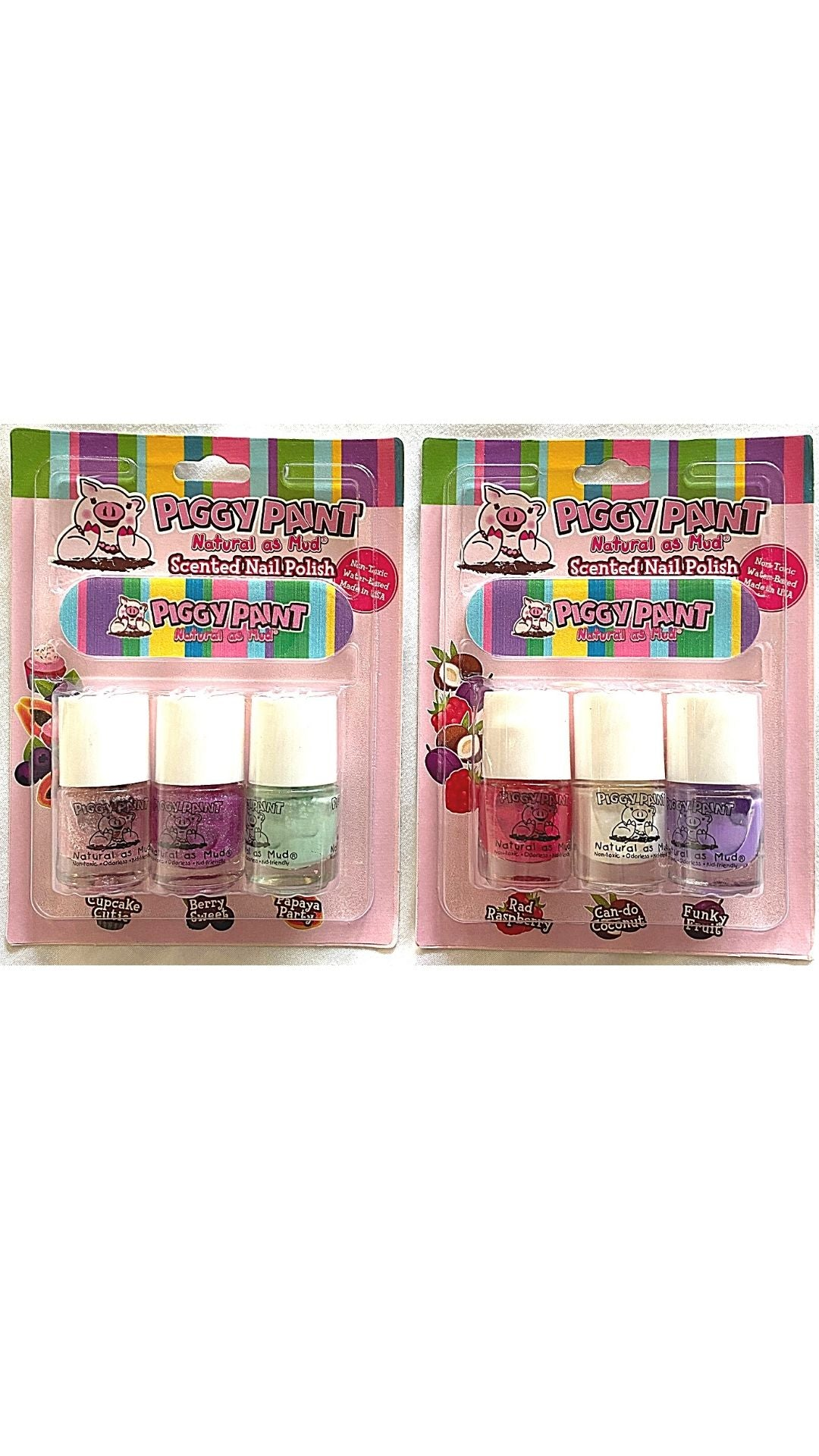 Scented 3 Pack Blister with Nail File (3 scented mini 3.5ml nail polish set)