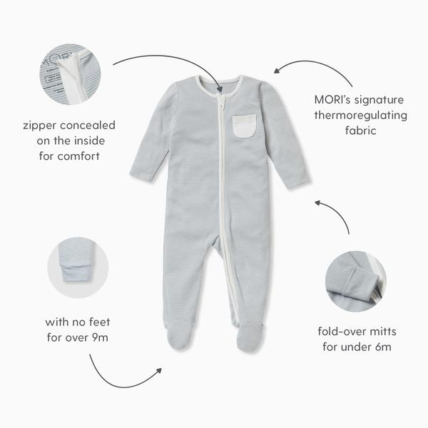 MORI Originals: Zip-Up Sleepsuit