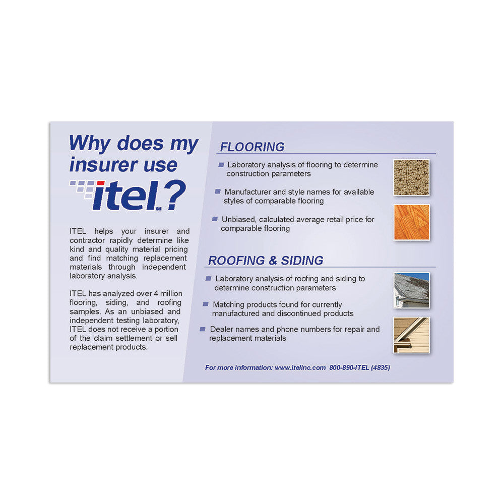 """Why Does My Insurer Use ITEL?"" Flyer"