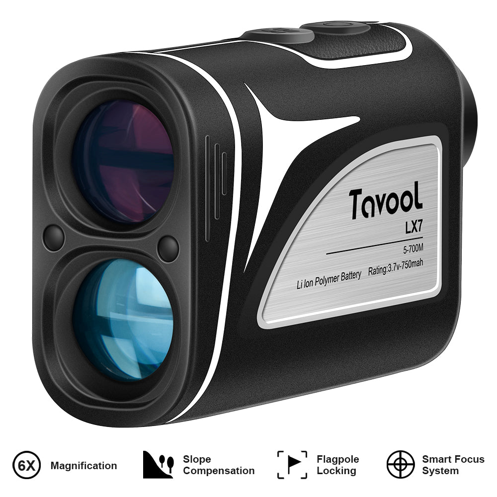 Tavool Golf Rangefinder- 6X Golf Distance Range Finder 700 Yards Laser Golf with Slope Flag-Lock Vibration Function, Rechargeable Range Finder