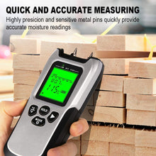 Load image into Gallery viewer, Wood Moisture Meter-MT1904 Upgraded Moisture Meter for Wood, Pin-Type Digital Moisture Mold Detector Tester for Firewood
