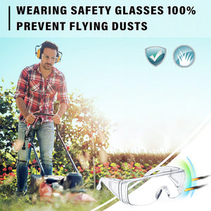 Safety Glasses Over Glasses Goggles Protective Eyewear for Work - Anti Fog Shooting Glasses Eye Protection with Clear Vision,Scratch & UV Resistant Safety Glasses for Men Women Lab Clear 3 Pack